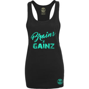 dames fitness tank top groen