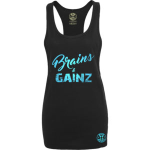 dames fitness tank top blauw