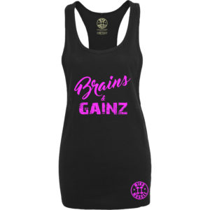 dames fitness tank top roze