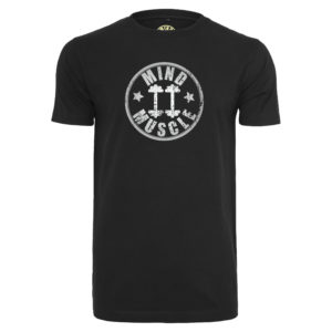 heren fitness logo t shirt zilver