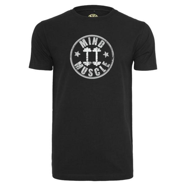 heren fitness logo t shirt zilver