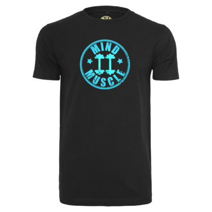 Heren fitness logo t shirt blauw
