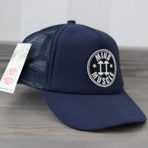 Blauwe trucker pet