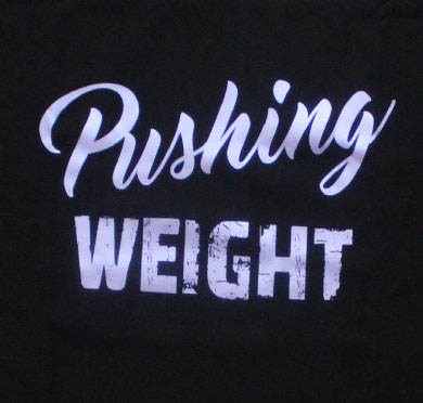 pushing weight close up