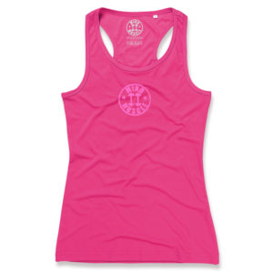 Dames fitness sport top dry fit roze