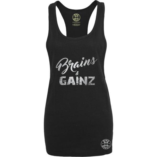 dames fitness tank top zilver