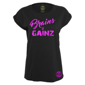 dames fitness t shirt roze