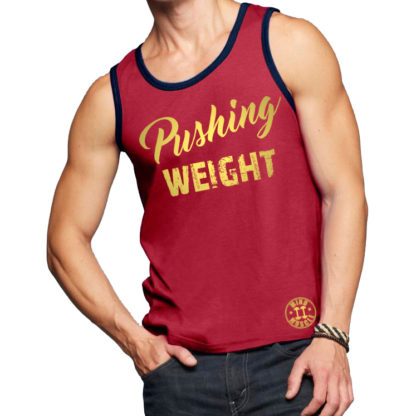 heren fitness tank top rood