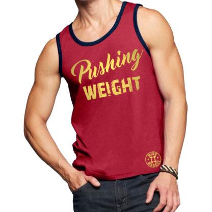 heren fitness tank top rood