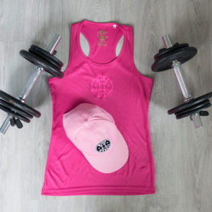 dames top - roze sport pet combo