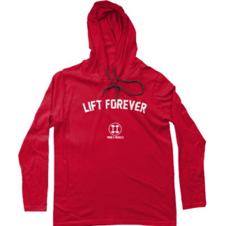 Lift Forever lange mouw capuchon t-shirt rood